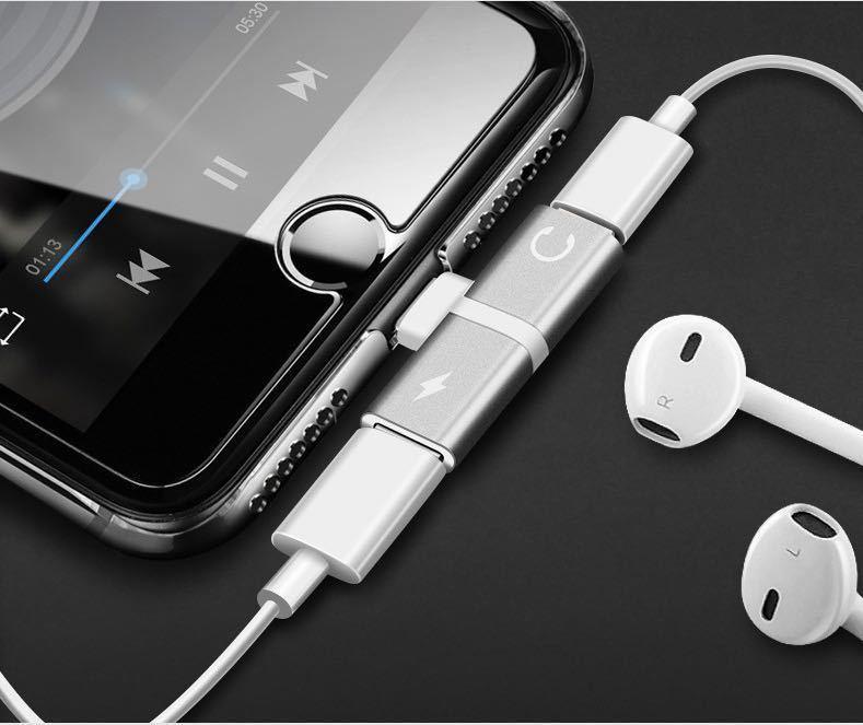 iPhone専用 イヤホン変換アダプター 2in1 イヤホン 充電014_画像3