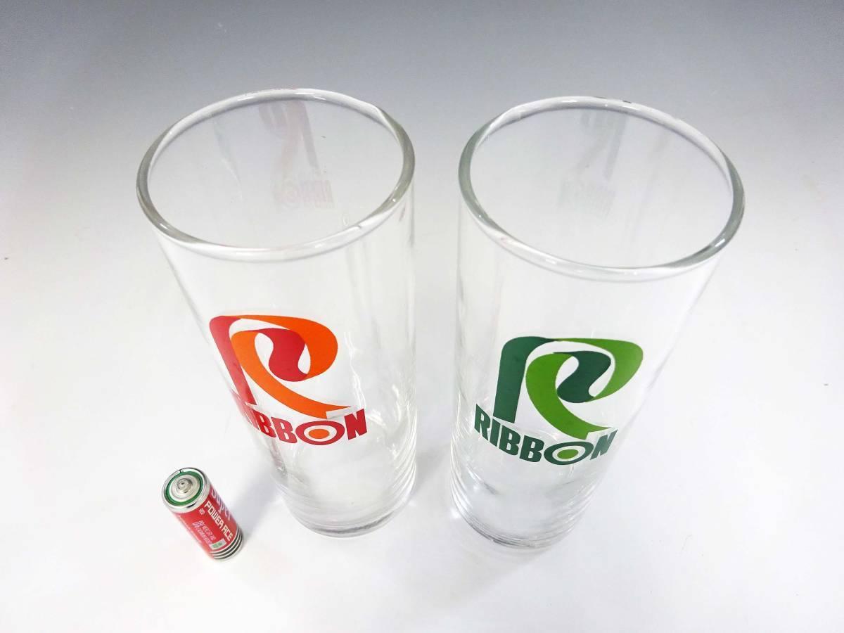 ◆③昭和レトロ リボンシトロン リボンゾンビー グラス 未使用 デッドストック 当時物 サッポロビール 非売品 企業物 グリーン 食器 雑貨_画像4