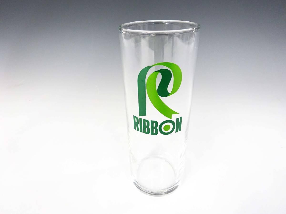 ◆③昭和レトロ リボンシトロン リボンゾンビー グラス 未使用 デッドストック 当時物 サッポロビール 非売品 企業物 グリーン 食器 雑貨_画像6