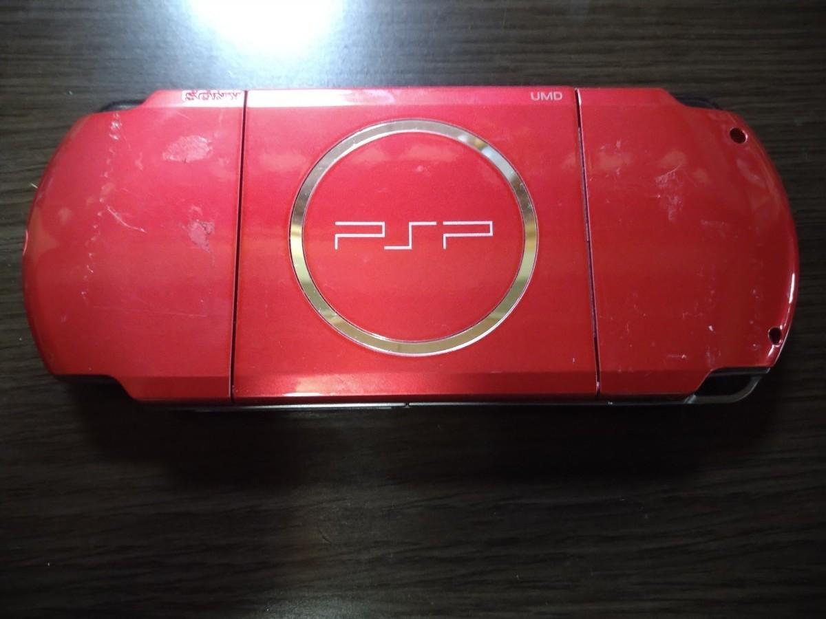 PSP-3000 PSP本体 プレイステーションポータブル レッド