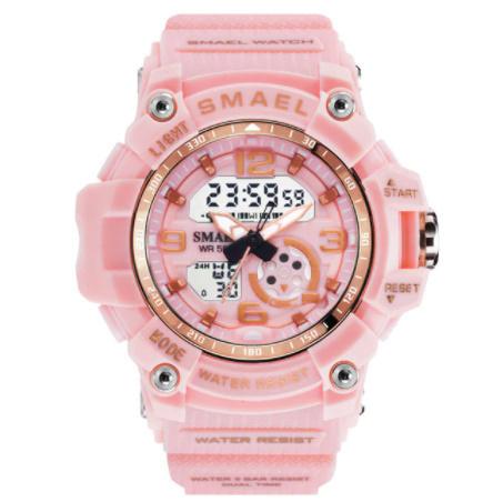 新品 Q2459:ファッション 女性 スポーツ 腕時計 防水 学生 多機能 led デジタル クォーツ ホワイJ85O_画像8
