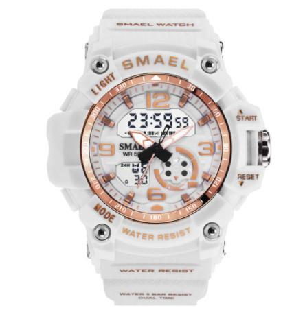 新品 Q2459:ファッション 女性 スポーツ 腕時計 防水 学生 多機能 led デジタル クォーツ ホワイJ85O_画像6
