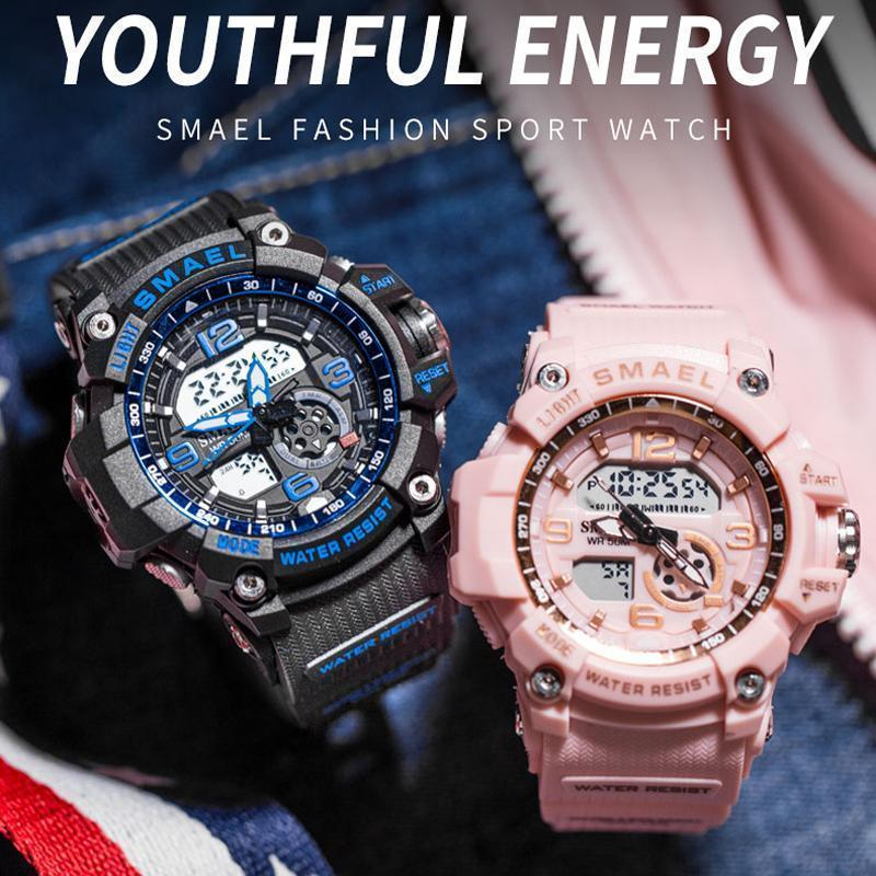 新品 Q2459:ファッション 女性 スポーツ 腕時計 防水 学生 多機能 led デジタル クォーツ ホワイJ85O_画像2