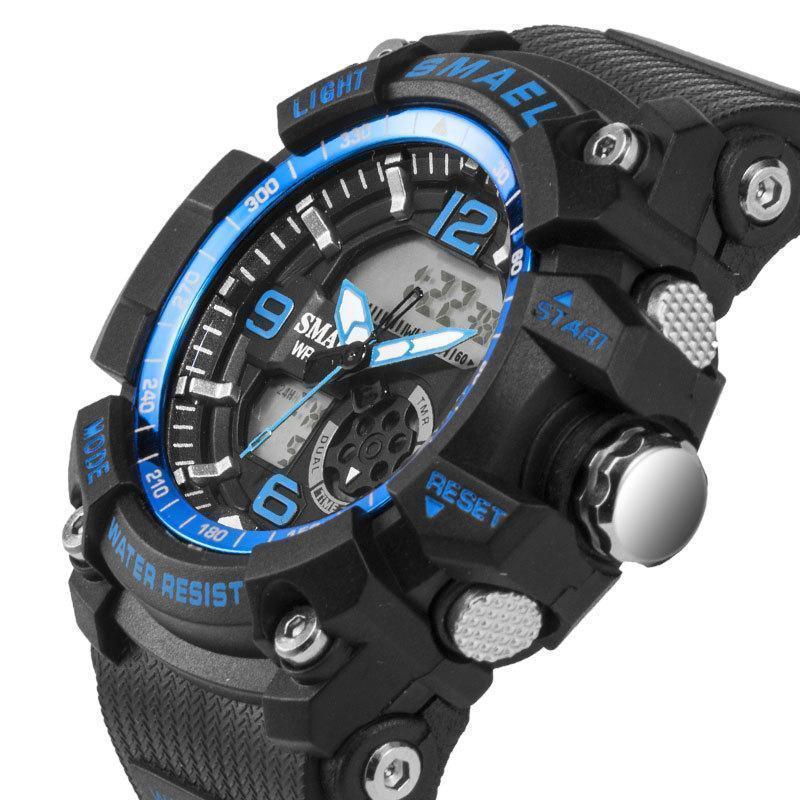 新品 Q2459:ファッション 女性 スポーツ 腕時計 防水 学生 多機能 led デジタル クォーツ ホワイJ85O_画像4