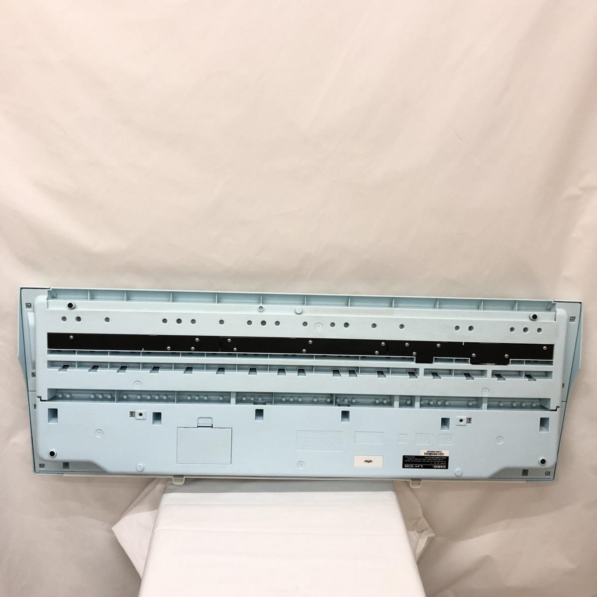 中古 CASIO カシオ 電子キーボード 光ナビゲーション LK-108 61鍵盤 ホワイト ライトブルー タッチレスポンス 電子ピアノ H15123_画像9