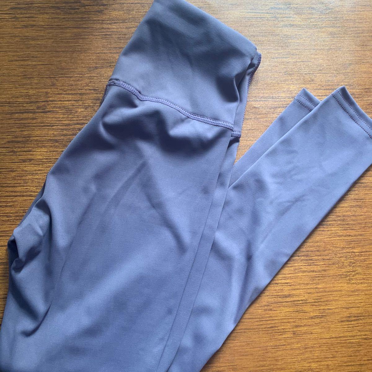 ヨガパンツ L 紫 レディース レギンス ヨガウェア スパッツ 美尻 新品未使用