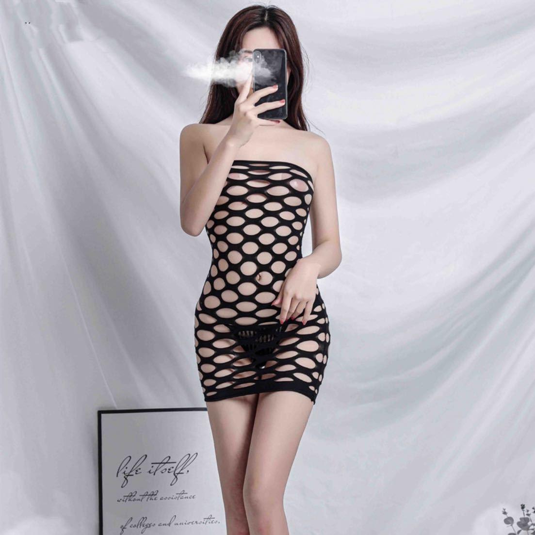 セクシーランジェリー sexyミニワンピース sexy 伸縮性 ミニワンピ 誘惑過激な女性用コスプレ衣装 オープンクロッチ