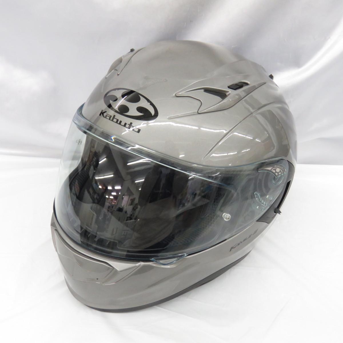 【美品】OGK kabuto OGKカブト フルフェイスヘルメット KAMUI-3 カムイ3 クールガンメタ サイズ:L(59-60㎝) 10758943