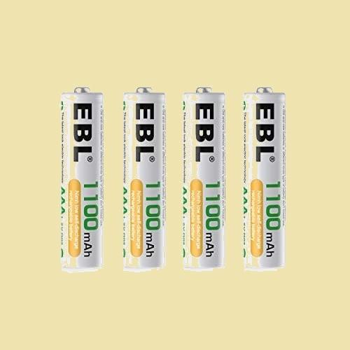 未使用 新品 単4形充電池 EBL H-Y9 単4電池充電式 防災電池 充電式ニッケル水素電池 高容量1100mAh 4本入りバッテリ_画像1
