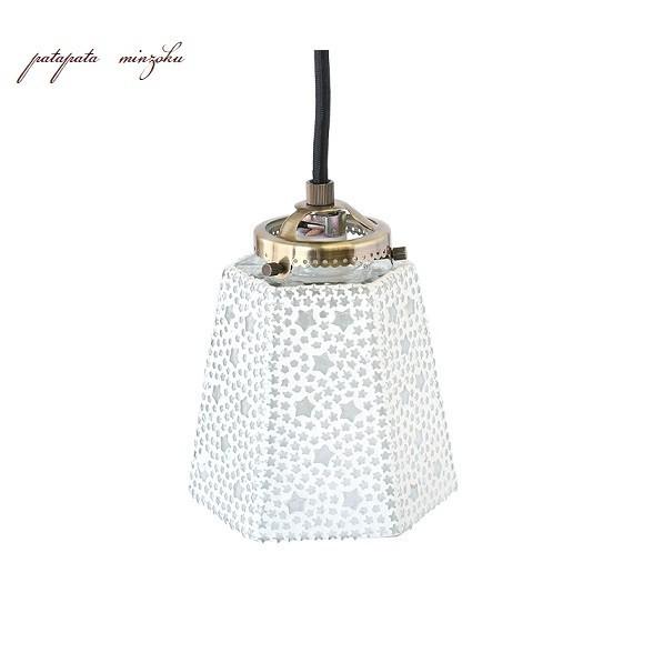 モザイク ハンギングランプ 六角 スター ホワイト ランプ ペンダントライト ペンダントランプ ステンドグラス_画像2
