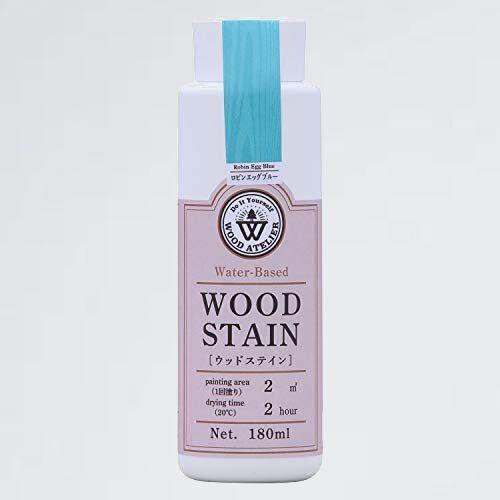 未使用 新品 水性着色剤 和信ペイント 7-SP WS-20 ロビンエッグブル- ウッドアトリエ ウッドステイン 180ml 800670_画像1
