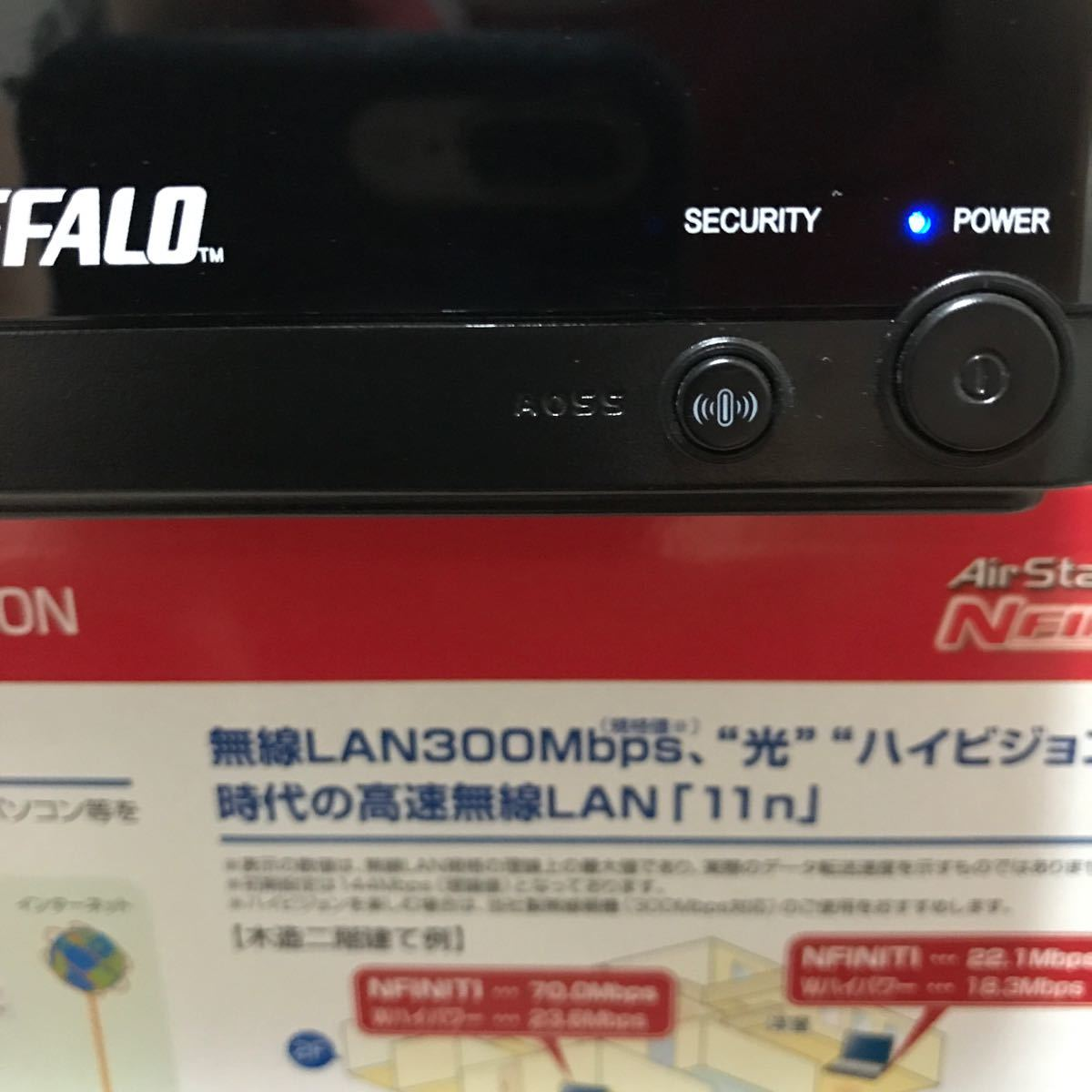 バッファロー LAN端子用無線子機 Air Station 11n/a/g/b WLI-TX4-AG300N