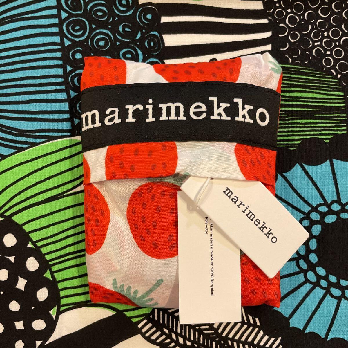 marimekko マリメッコ Mansikka イチゴ柄エコバッグ 新品送料込