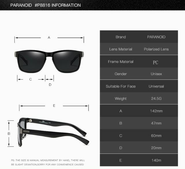 新品 送料込み PARANOID 偏光レンズ スポーツサングラス ブラック