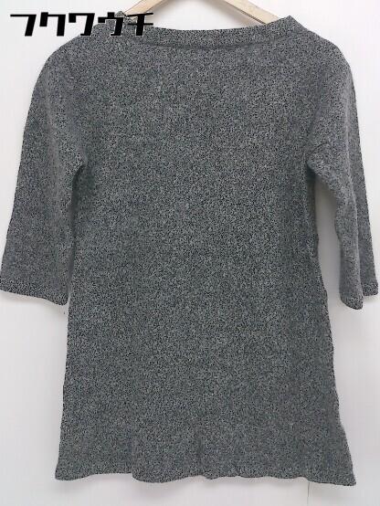 ◇ MACPHEE TOMORROWLAND トゥモローランド ウール ニット 七分袖 セーター サイズ38 グレー系 レディース_画像2