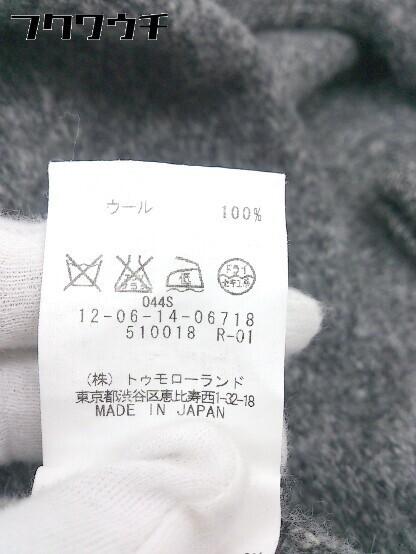 ◇ MACPHEE TOMORROWLAND トゥモローランド ウール ニット 七分袖 セーター サイズ38 グレー系 レディース_画像4