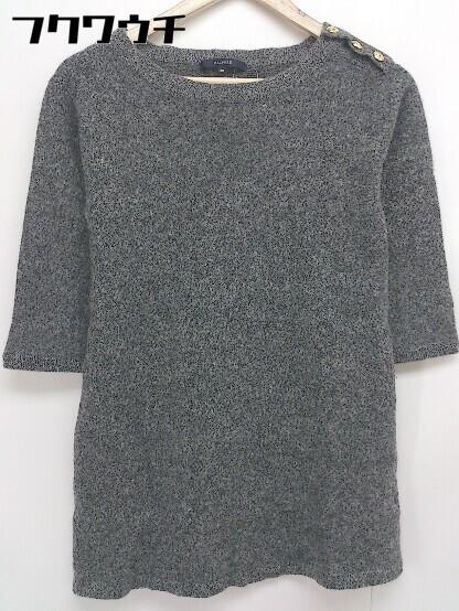 ◇ MACPHEE TOMORROWLAND トゥモローランド ウール ニット 七分袖 セーター サイズ38 グレー系 レディース_画像1