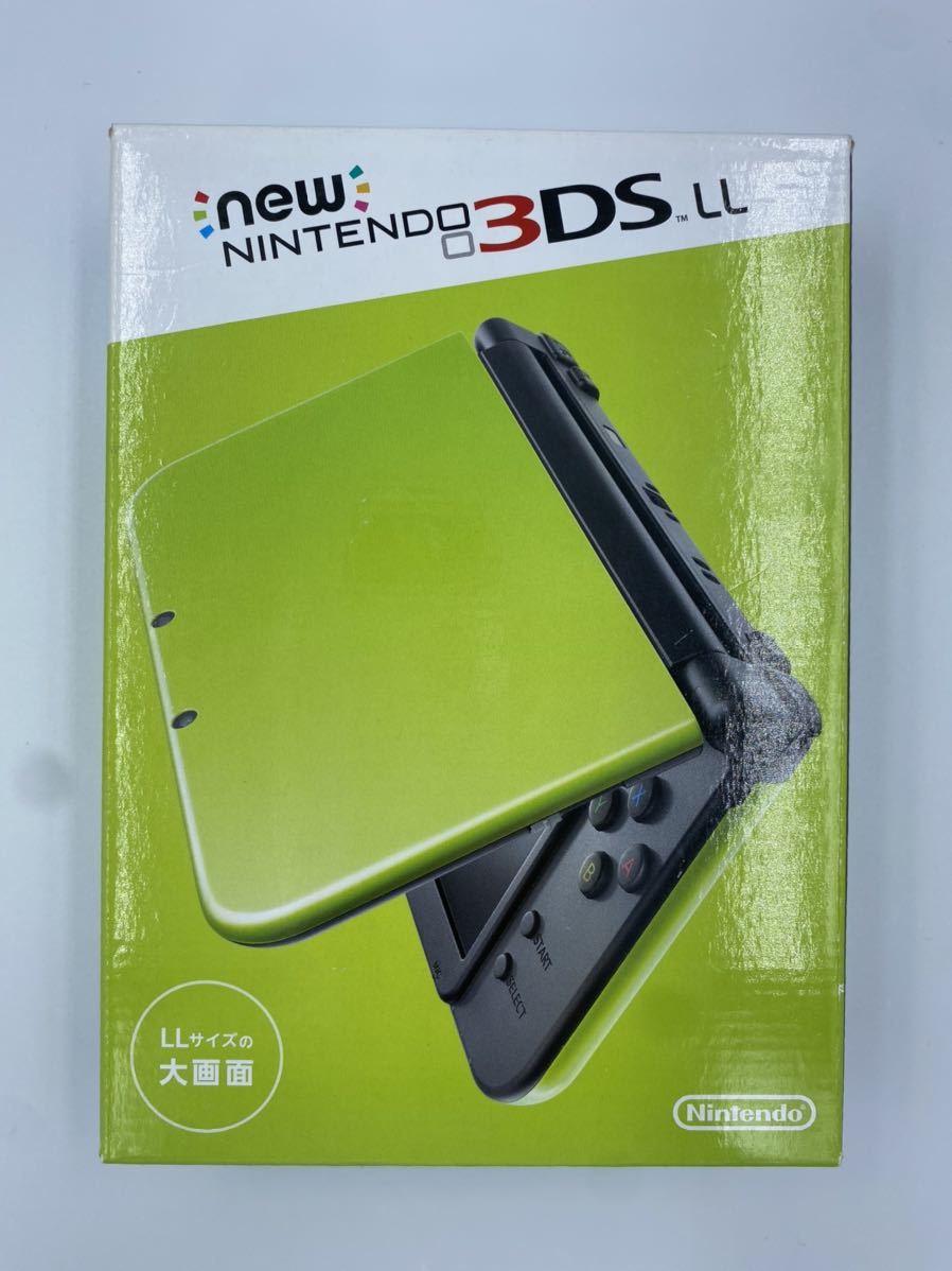 ☆未使用品☆Nintendo 任天堂 Newニンテンドー3DS LL ライム ブラック New3DSLL 付属品 全部あり 生産終了品 貴重