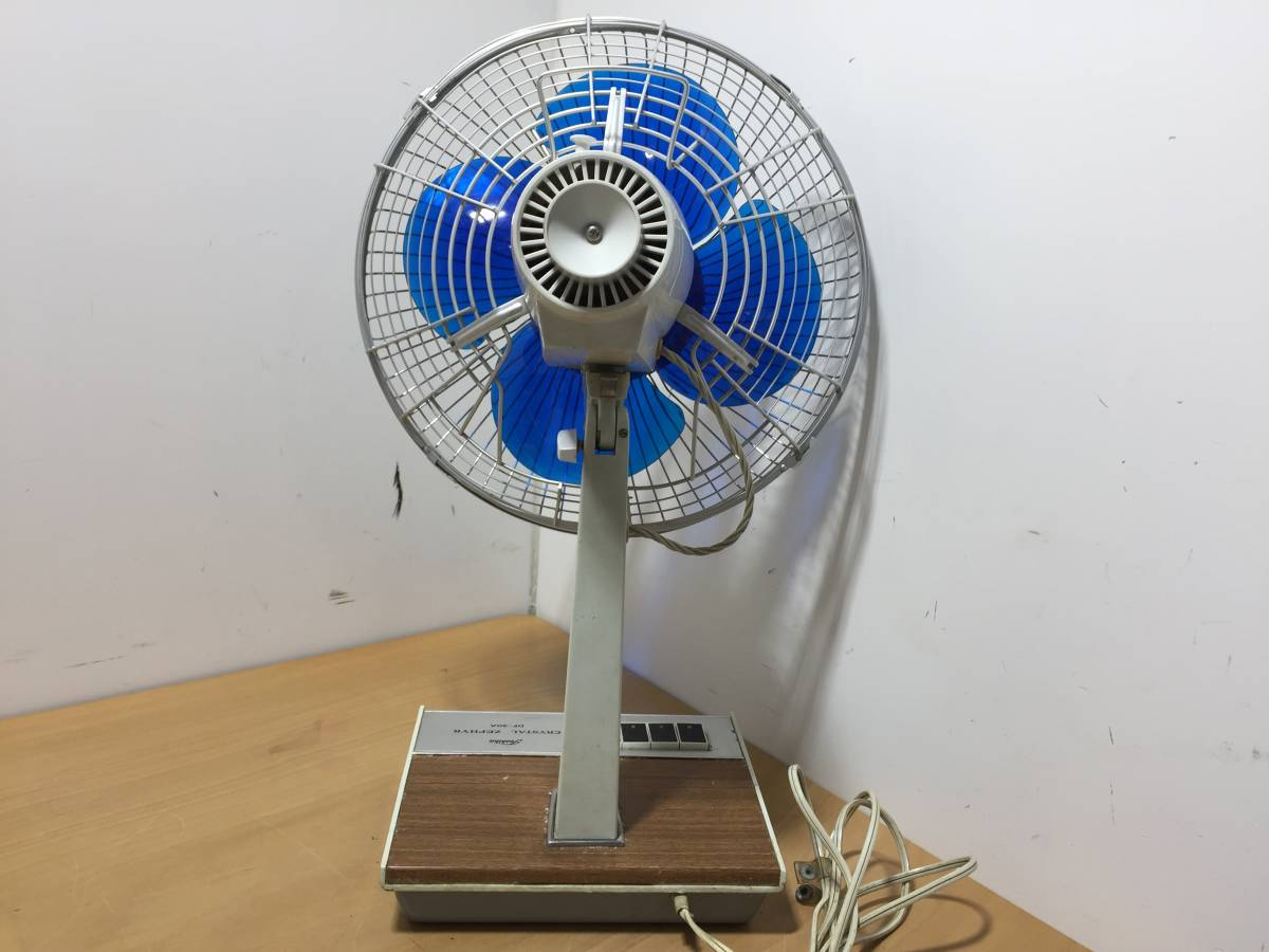 ◆TOSHIBA 東芝◆DF-30A 東芝扇風機 扇風機 青羽根 4枚羽根 卓上 羽根径30㎝ 昭和 レトロ アンティーク【中古/現状品/通電確認OK】_画像8