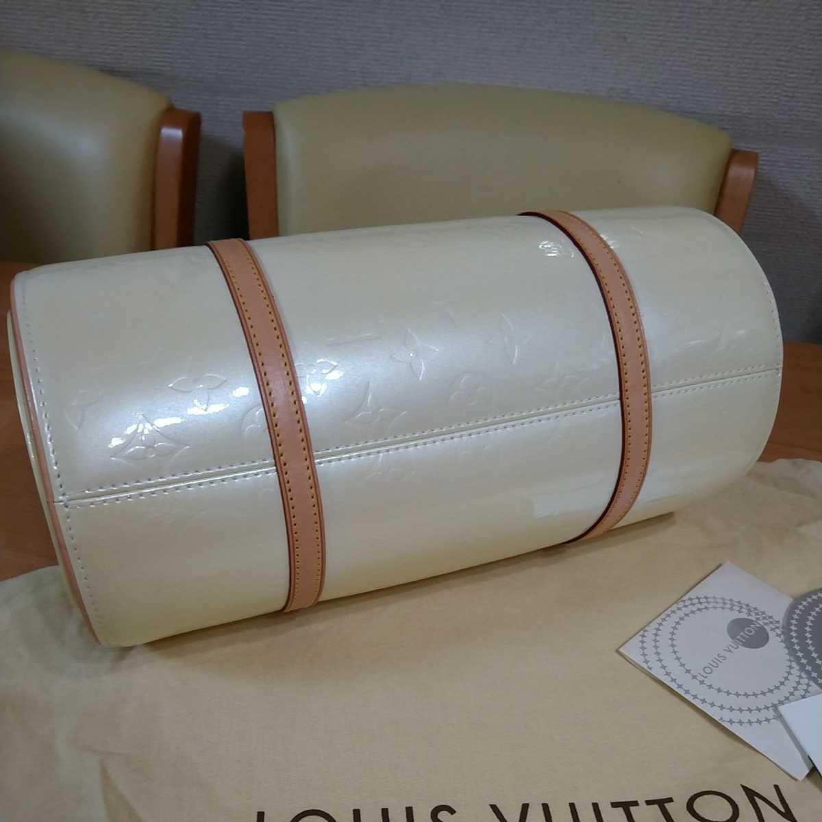値下げ中 中古 LOUIS VUITTON ルイヴィトン モノグラム ヴェルニ ハンドバッグ ぺルル 保存袋付 送料無料_画像3