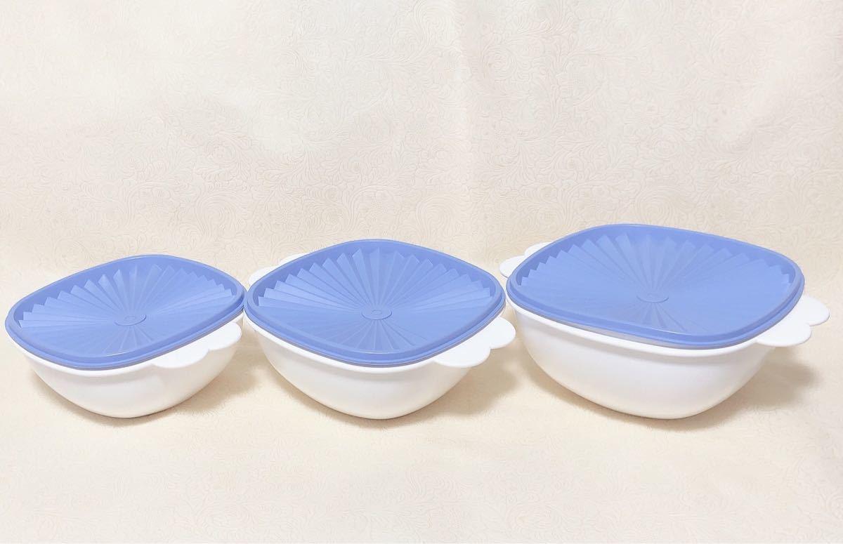 タッパーウェア デコレーター 3個セット 新品未使用 密封容器 保存容器 ボール  Tupperware キッチン用品