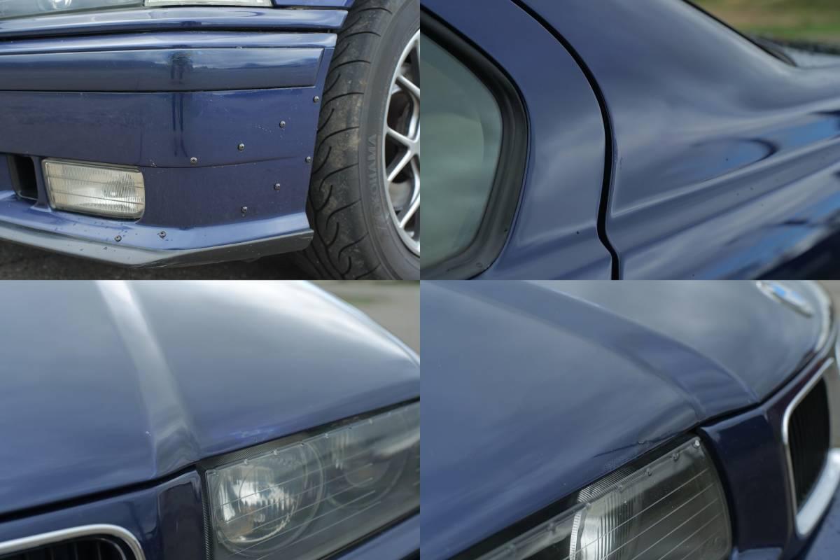 「イギリス並行輸入車 BMW E36 320i 5MT 4ドア クルーズコントロール付き ライトチューン 足回りリフレッシュ済 97年車」の画像2