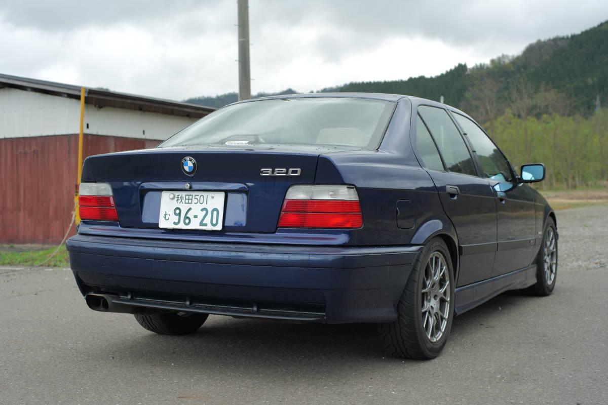 「イギリス並行輸入車 BMW E36 320i 5MT 4ドア クルーズコントロール付き ライトチューン 足回りリフレッシュ済 97年車」の画像3