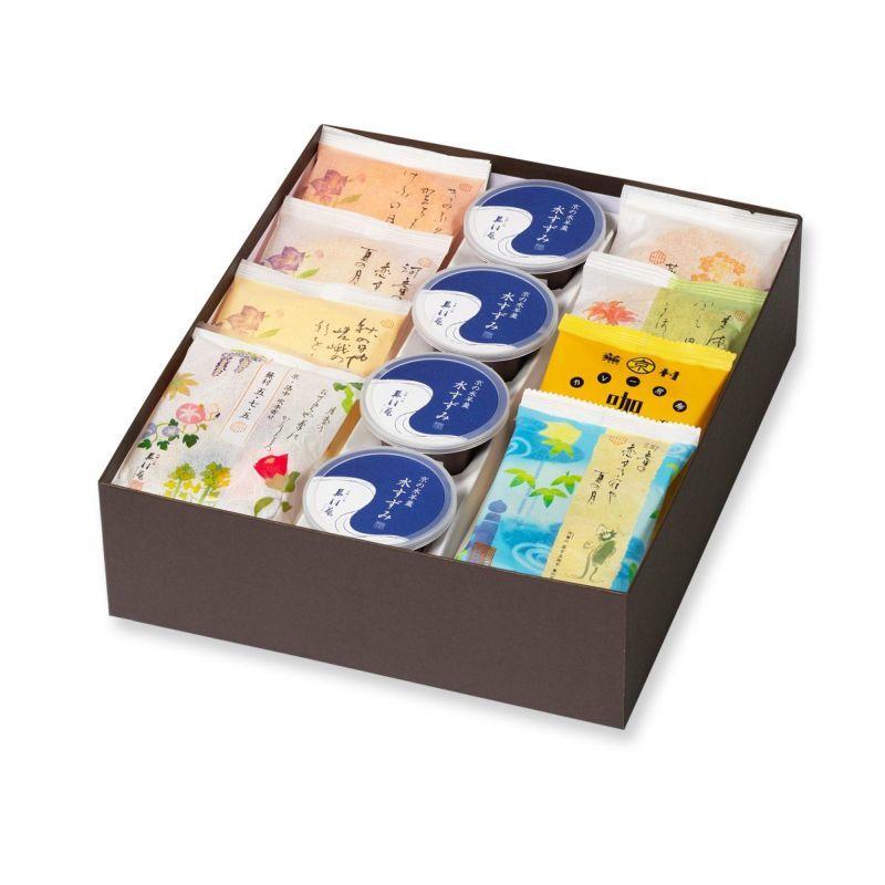 ★☆★ 蕪村菴 / [夏季限定]人気お煎餅と水羊羹詰め合わせ「夏めぐり 化粧箱D」 ★☆★_イメージ写真です