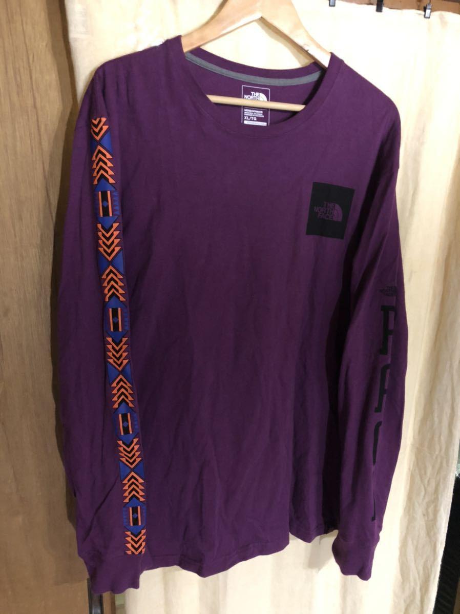 THE NORTH FACE 長袖Tシャツ ザノースフェイス ロングスリーブ XL RAGEシリーズ 紫 パープル