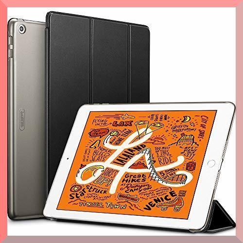 新品ブラック ESR iPad Mini 5 2019 ケース 軽量 薄型 PU レザー スマート カバXW9Z_画像1