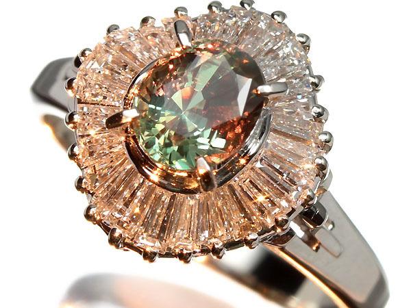 2853S【1円~】新品【RK宝石】≪alexandrite≫ 極上アレキサンドライト 特大1.05ct!! 極上ダイヤモンド Pt900 超高級リング ダイヤ