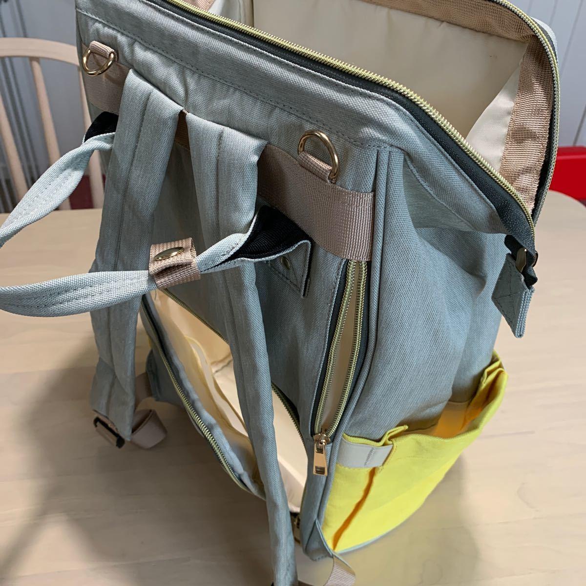 SONARINマザーズバッグ、ベビーおむつ交換バックパック、旅行バックパックオーガナイザー、防水、大容量、スタイリッシュで耐久性