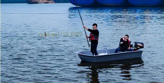 「★新品未使用★船外機可 2分割ボート 2.2メートル フィッシングボート 車載 釣り 未使用 ゴムボート」の画像3