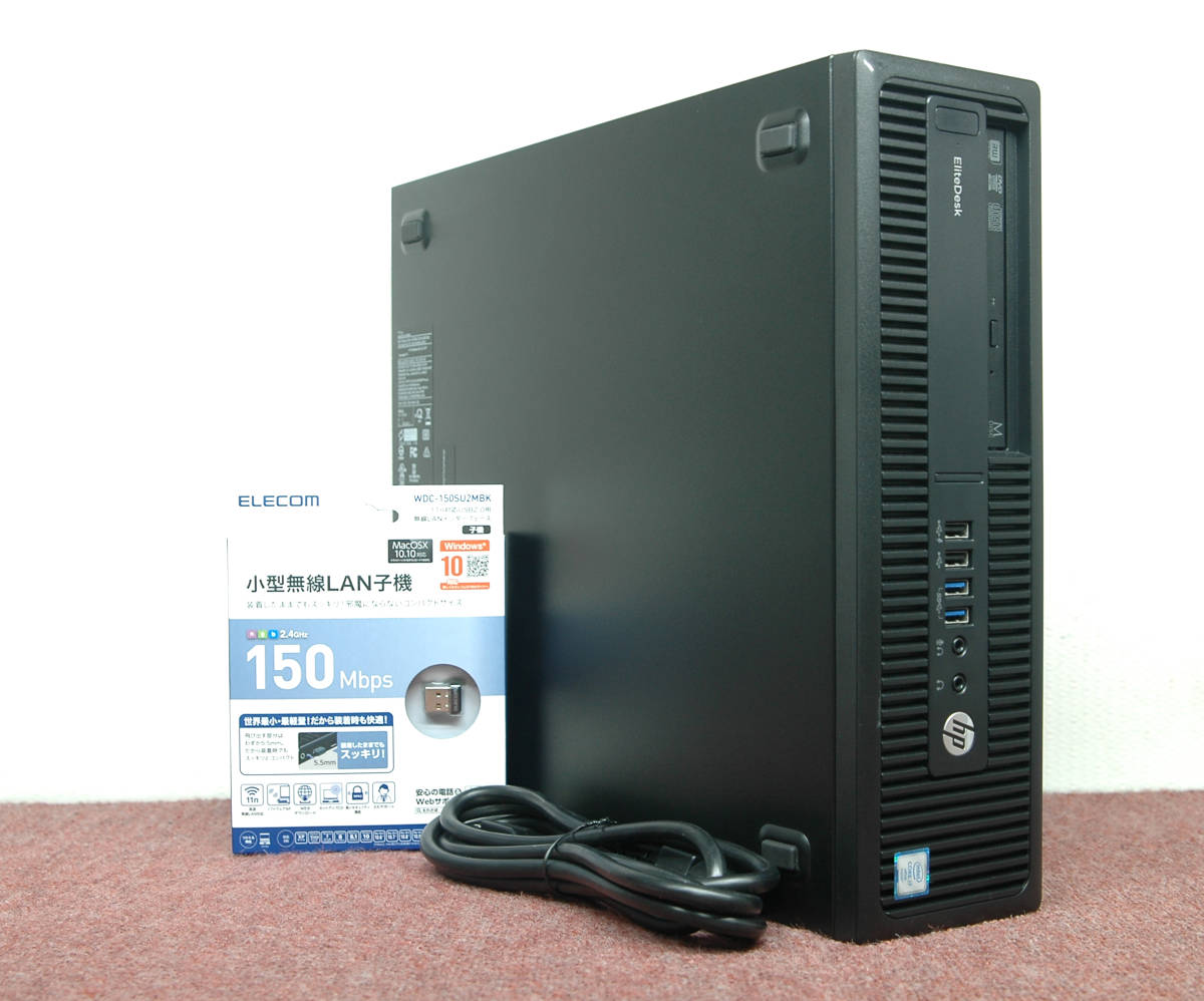 Win10□■i7-6700K/超大容量DDR4 40GBメモリ/新品SSD1TB+HDD3TB!hp EliteDesk 800G2 SFF / MS Office2019 / Wi-Fi / USB3.0