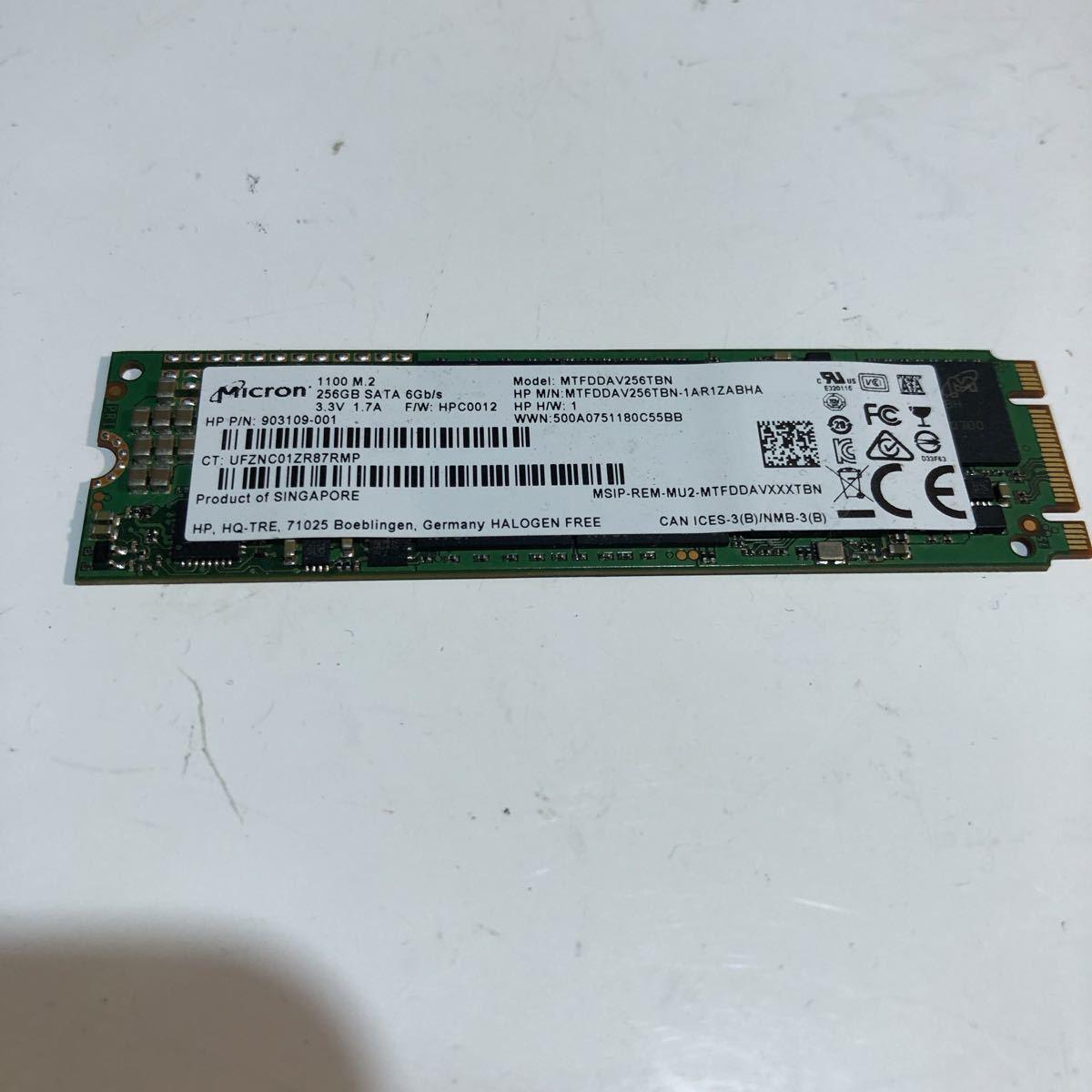 CC1-S28 1100 M.2 SSD 256GB Micron1100 M2 MTFDDAV256TBN M.2 状態正常 使用時間:未確認