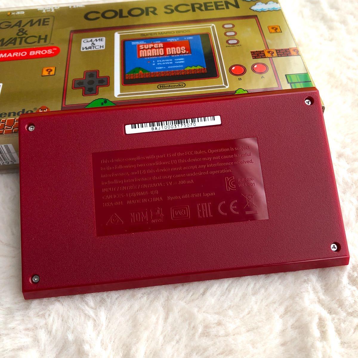 ゲーム&ウオッチ スーパーマリオブラザーズ GAME&WATCH 任天堂 保護シール貼り付け済