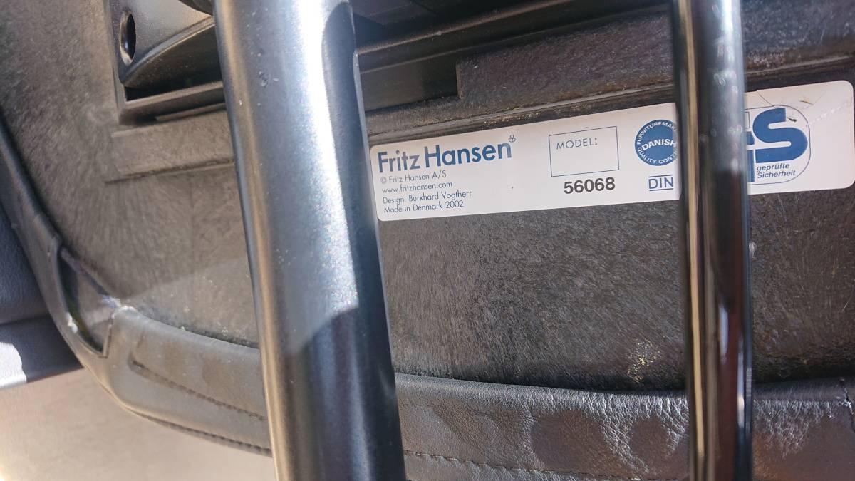 Fritz Hansen /フリッツ・ハンセン Flow デスクチェア 本革 バークハード・フォクトヘル 23万円_画像9