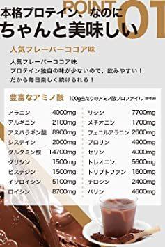 プロテイン ホエイ 【 タンパク質 豊富な ホエイプロテイン 1kg 】「 国内製造 ビタミンC たっぷりの WPC80 」「 _画像3