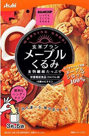 アサヒグループ食品 バランスアップ玄米ブラン メープルくるみ 150g&5箱_画像1
