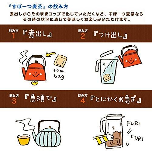 スポーツ麦茶 1箱 美味しく水分補給をサポート (たっぷり30リットル分!) ノンカフェイン、厳選オーガニック原料、アミノ酸18_画像7