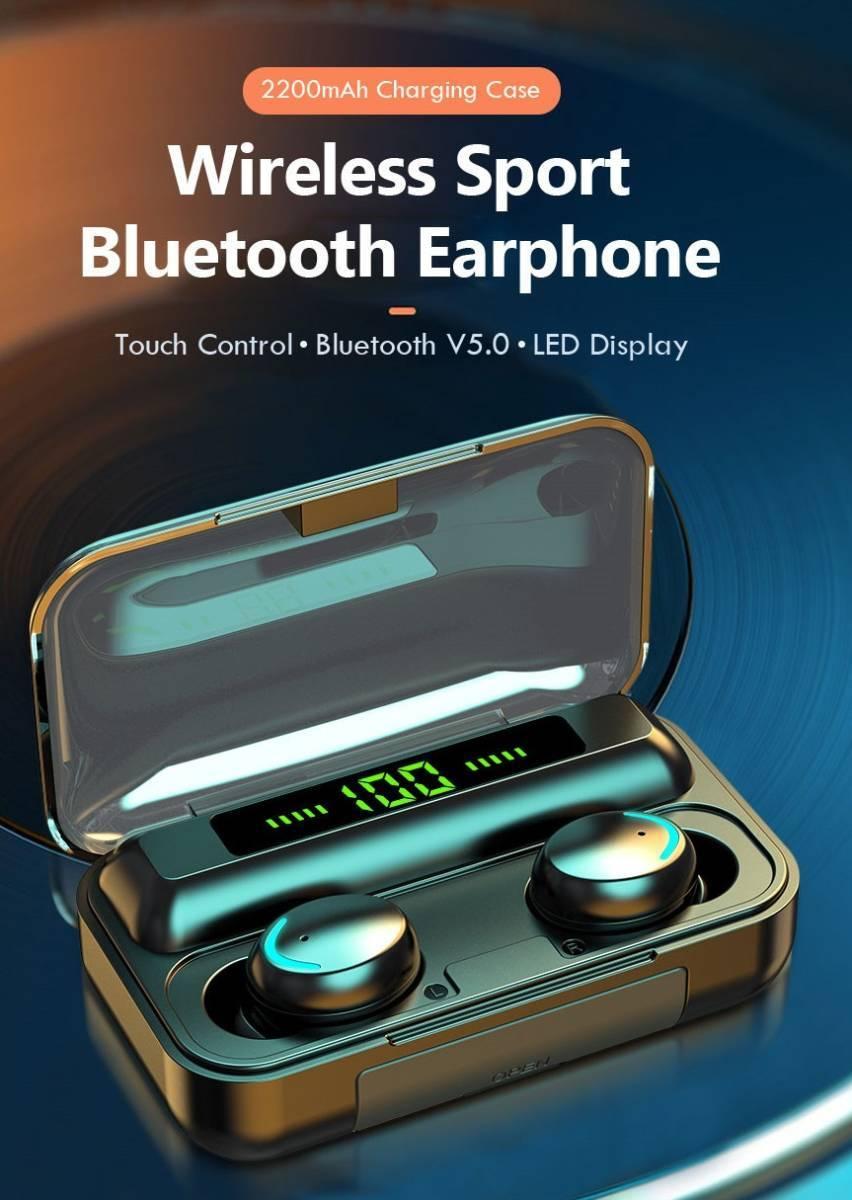 W10 Bluetoothイヤホン ワイヤレス 防水 残量 Hi-Fi 高音質 bluetooth5.0 ワイヤレス 左右分離型 自動ペアリング iPhone/Android WXX_画像1