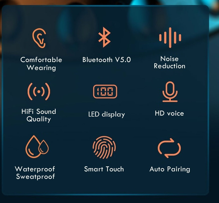 W10 Bluetoothイヤホン ワイヤレス 防水 残量 Hi-Fi 高音質 bluetooth5.0 ワイヤレス 左右分離型 自動ペアリング iPhone/Android WXX_画像3