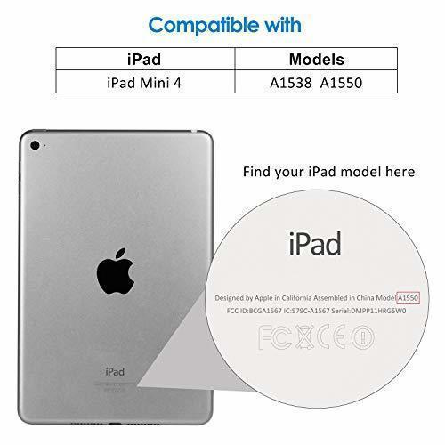 ローズゴールド 7.9インチ JEDirect iPad mini 4 ケース レザー 三つ折スタンド オートスリープ機能 スマ_画像2