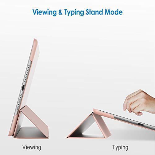 ローズゴールド 7.9インチ JEDirect iPad mini 4 ケース レザー 三つ折スタンド オートスリープ機能 スマ_画像3