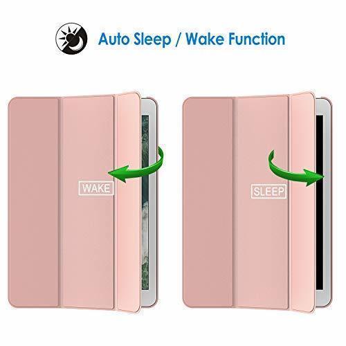 ローズゴールド 7.9インチ JEDirect iPad mini 4 ケース レザー 三つ折スタンド オートスリープ機能 スマ_画像4
