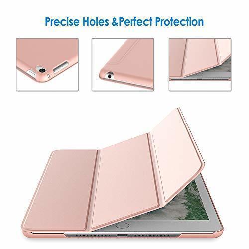 ローズゴールド 7.9インチ JEDirect iPad mini 4 ケース レザー 三つ折スタンド オートスリープ機能 スマ_画像5