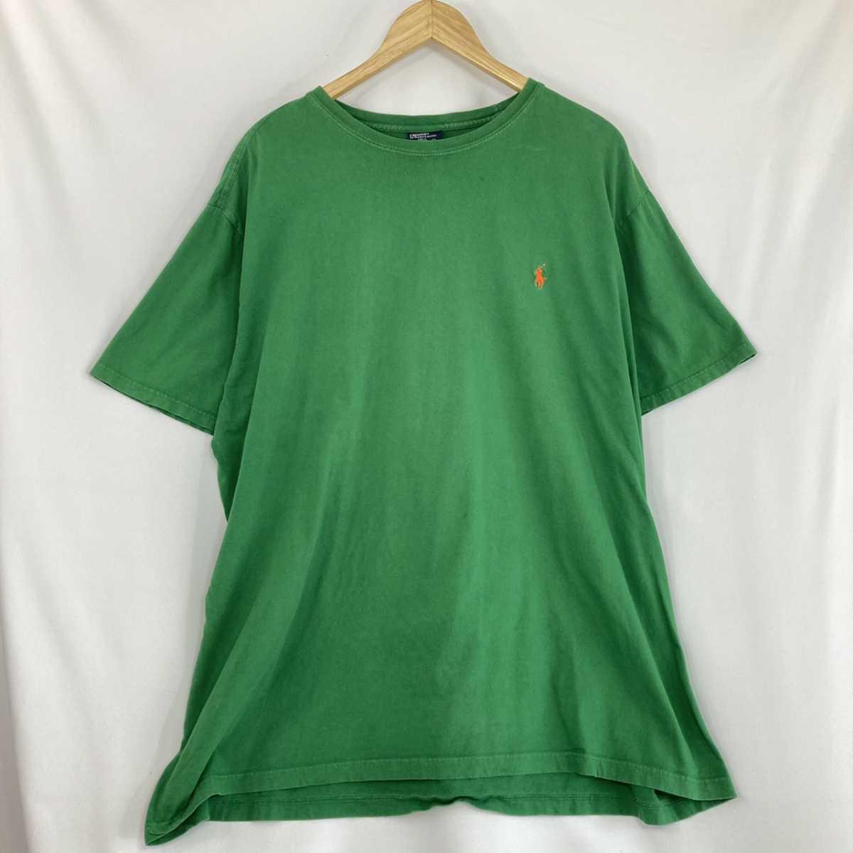【人気カラー】ラルフローレン Tシャツ 刺繍ロゴ 緑 グリーン 古着 XXL_画像2