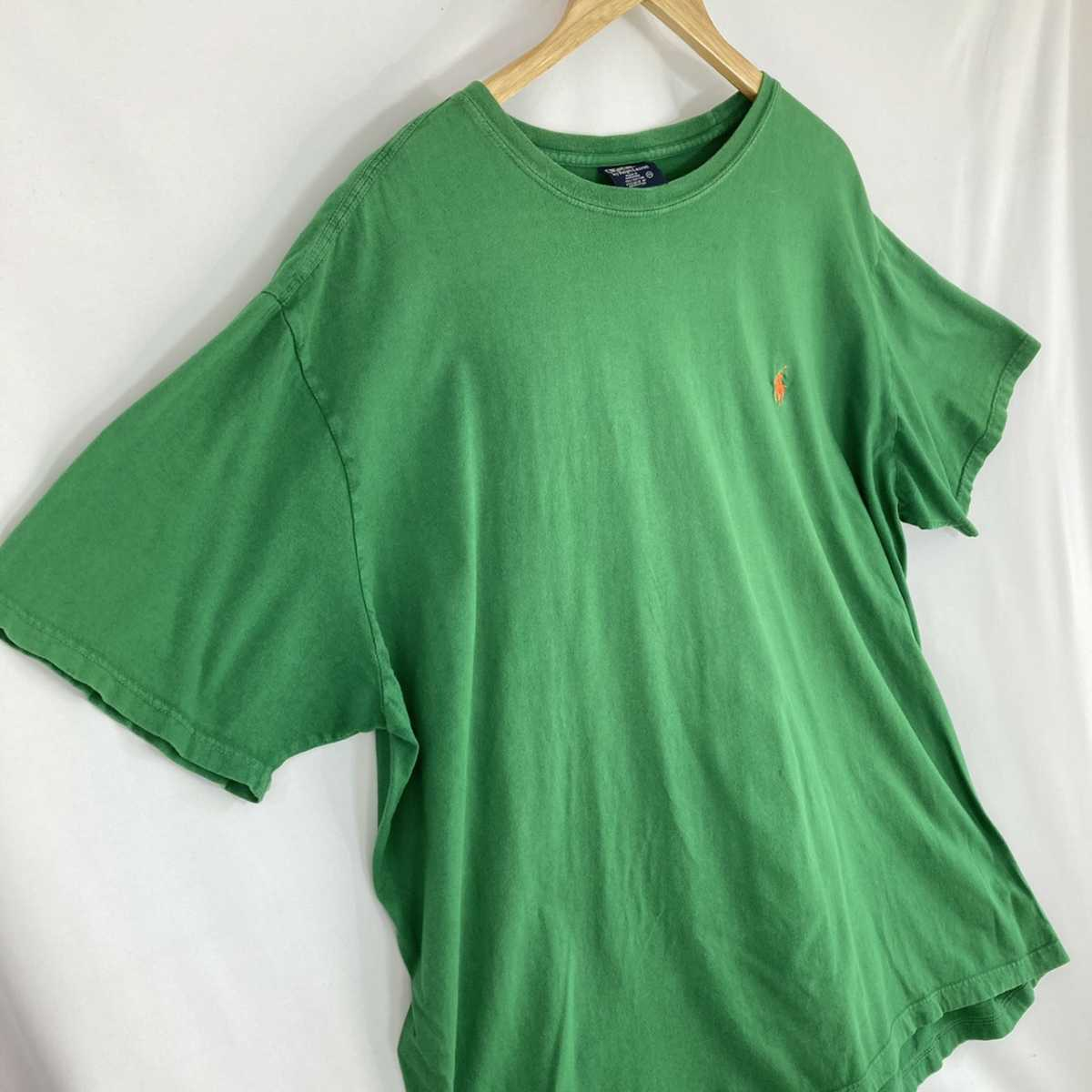【人気カラー】ラルフローレン Tシャツ 刺繍ロゴ 緑 グリーン 古着 XXL_画像3