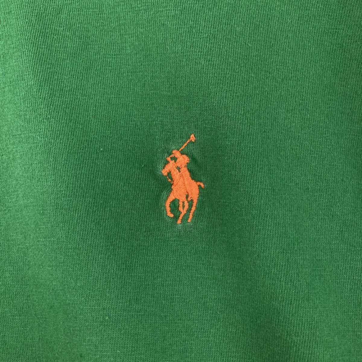 【人気カラー】ラルフローレン Tシャツ 刺繍ロゴ 緑 グリーン 古着 XXL_画像5