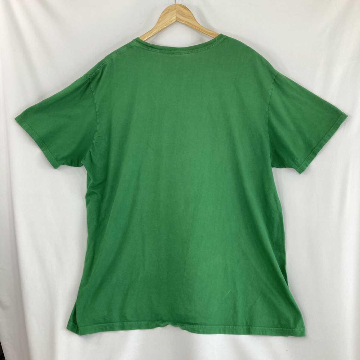 【人気カラー】ラルフローレン Tシャツ 刺繍ロゴ 緑 グリーン 古着 XXL_画像6